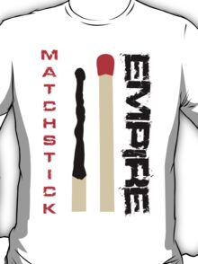 Matchstick Empire - Red and Black T-Shirt