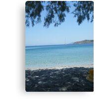 Greek Island Beach Patmos Canvas Print