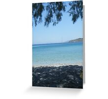 Greek Island Beach Patmos Greeting Card