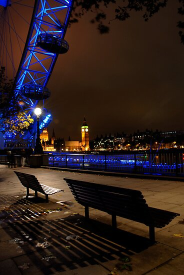 Looking out, London Eye @ Night by Michiel Meyboom