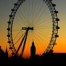 Sunset on the London Eye & Big Ben by Michiel Meyboom