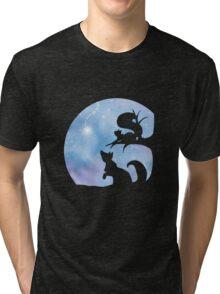 Woodland Shadows - Fox and Squirrel:Winter Tri-blend T-Shirt