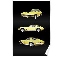 Yellow 1967 Corvette Stingray Poster