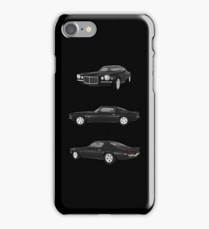 Black 1972 Camaro  iPhone Case/Skin