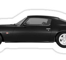 Black 1972 Camaro  Sticker