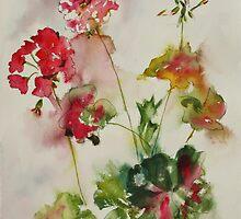 Lively Geraniums by Joyce Ann Burton-Sousa