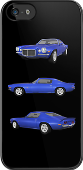 Blue 1972 Camaro  by bradyarnold