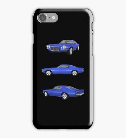 Blue 1972 Camaro  iPhone Case/Skin