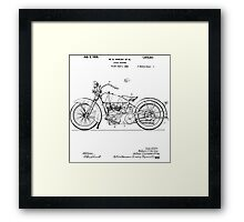Motorcycle Patent 1925 Framed Print