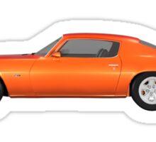 Orange 1972 Camaro  Sticker