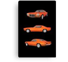 Orange 1972 Camaro  Canvas Print