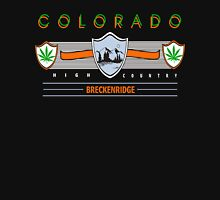 "Marijuana Breckenridge Colorado ""High Country"" Womens Fitted T-Shirt"