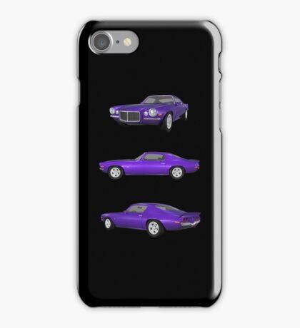 Purple 1972 Camaro  iPhone Case/Skin