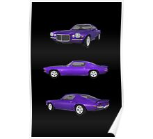 Purple 1972 Camaro  Poster