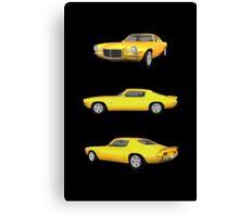 Yellow 1972 Camaro  Canvas Print