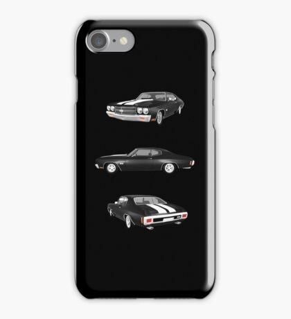 Black 1970 Chevelle SS iPhone Case/Skin