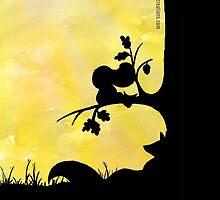 Woodland Shadows - Fox and Squirrel:Summer by artemissart