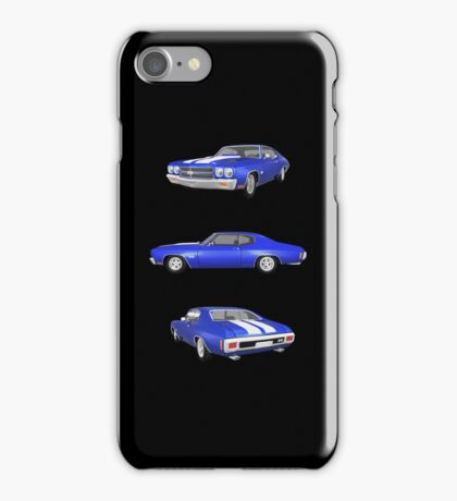 Blue 1970 Chevelle SS iPhone Case/Skin