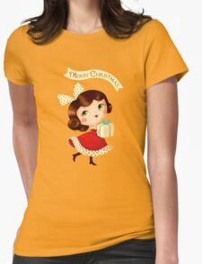 Cute Vintage Christmas Girl T-Shirt