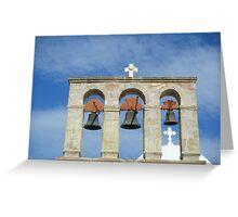 Greek Island Church bells Greeting Card
