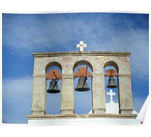 Greek Island Church bells Poster