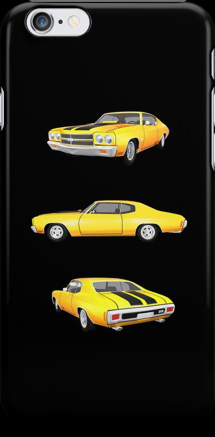 Yellow 1970 Chevelle SS by bradyarnold