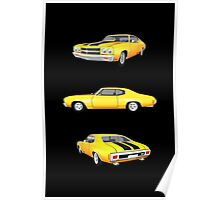 Yellow 1970 Chevelle SS Poster