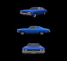 Blue 1969 Chevelle SS by bradyarnold