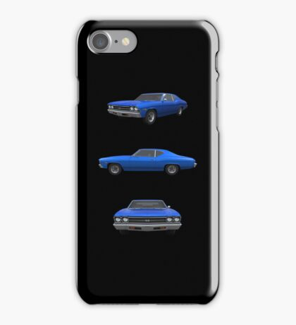 Blue 1969 Chevelle SS iPhone Case/Skin