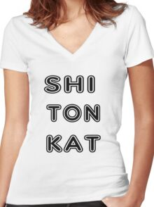 Urban Kat Lingo Women's Fitted V-Neck T-Shirt