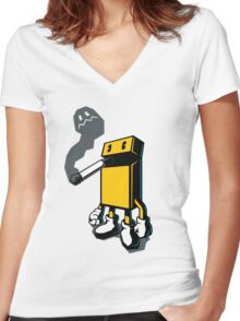 PACKMAN Women's Fitted V-Neck T-Shirt