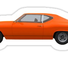 Orange 1969 Chevelle SS Sticker