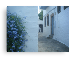 Patmos Island Street Canvas Print