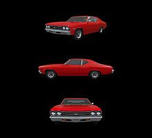 Red 1969 Chevelle SS by bradyarnold