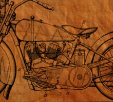 Motorcycle Patent 1925 Sticker