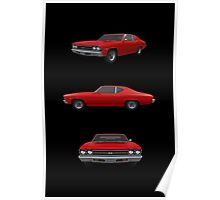 Red 1969 Chevelle SS Poster