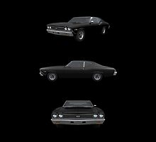 Black 1968 Chevelle SS by bradyarnold