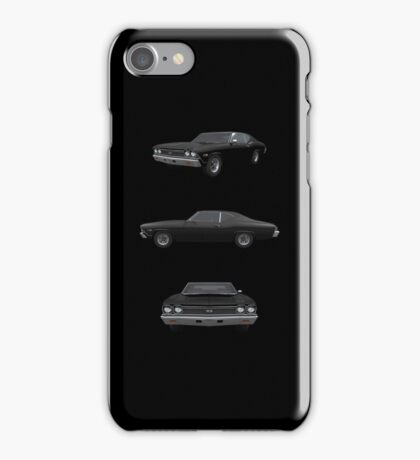 Black 1968 Chevelle SS iPhone Case/Skin