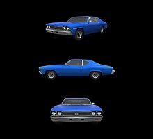Blue 1968 Chevelle SS by bradyarnold