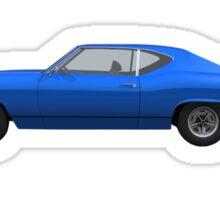 Blue 1968 Chevelle SS Sticker