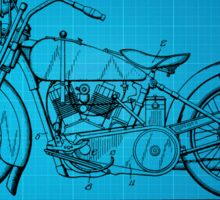Motorcycle Patent 1925 - Blue Sticker