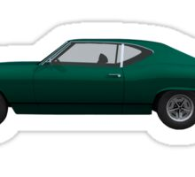 Green 1968 Chevelle SS Sticker