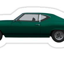 Green 1968 Chevelle SS Sticker
