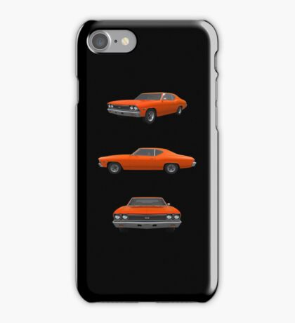 Orange 1968 Chevelle SS iPhone Case/Skin
