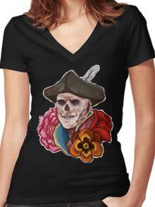 John Hancock Women's Fitted V-Neck T-Shirt