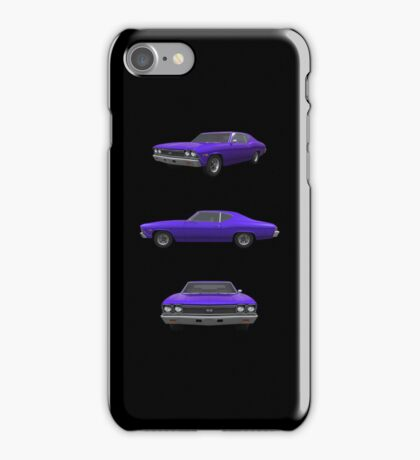 Purple 1968 Chevelle SS iPhone Case/Skin