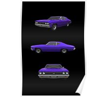 Purple 1968 Chevelle SS Poster