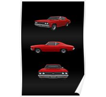 Red 1968 Chevelle SS Poster