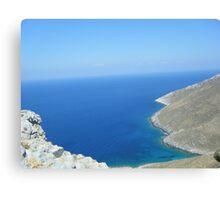 Patmos Greek Island View #photography Canvas Print