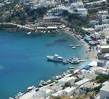 Patmos Greek Island Harbour #photography by SlavicaB